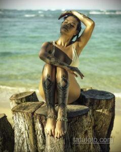 Рисунок тату хной для девушки 28.11.2020 №044 -henna tattoo for girl- tatufoto.com