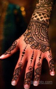 Рисунок тату хной для девушки 28.11.2020 №046 -henna tattoo for girl- tatufoto.com