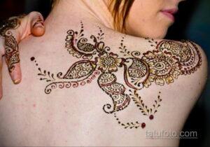 Рисунок тату хной для девушки 28.11.2020 №047 -henna tattoo for girl- tatufoto.com