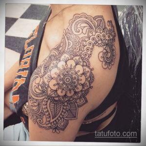 Рисунок тату хной для девушки 28.11.2020 №048 -henna tattoo for girl- tatufoto.com