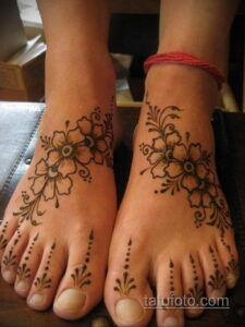 Рисунок тату хной для девушки 28.11.2020 №051 -henna tattoo for girl- tatufoto.com