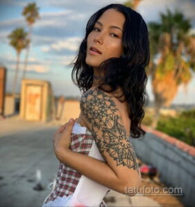 Рисунок тату хной для девушки 28.11.2020 №054 -henna tattoo for girl- tatufoto.com