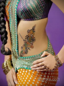 Рисунок тату хной для девушки 28.11.2020 №056 -henna tattoo for girl- tatufoto.com