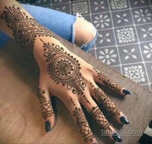 Рисунок тату хной для девушки 28.11.2020 №059 -henna tattoo for girl- tatufoto.com