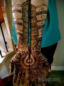 Рисунок тату хной для девушки 28.11.2020 №060 -henna tattoo for girl- tatufoto.com