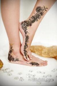 Рисунок тату хной для девушки 28.11.2020 №070 -henna tattoo for girl- tatufoto.com