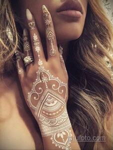 Рисунок тату хной для девушки 28.11.2020 №079 -henna tattoo for girl- tatufoto.com