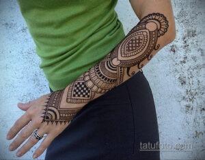 Рисунок тату хной для девушки 28.11.2020 №080 -henna tattoo for girl- tatufoto.com