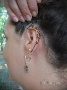 Рисунок тату хной для девушки 28.11.2020 №084 -henna tattoo for girl- tatufoto.com