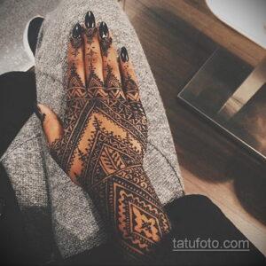 Рисунок тату хной для девушки 28.11.2020 №089 -henna tattoo for girl- tatufoto.com