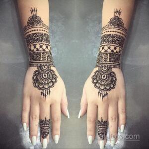Рисунок тату хной для девушки 28.11.2020 №093 -henna tattoo for girl- tatufoto.com