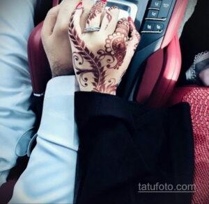 Рисунок тату хной для девушки 28.11.2020 №094 -henna tattoo for girl- tatufoto.com