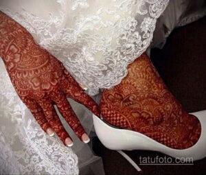 Рисунок тату хной для девушки 28.11.2020 №098 -henna tattoo for girl- tatufoto.com