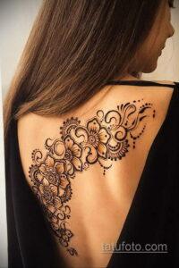 Рисунок тату хной для девушки 28.11.2020 №106 -henna tattoo for girl- tatufoto.com