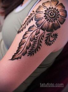 Рисунок тату хной для девушки 28.11.2020 №110 -henna tattoo for girl- tatufoto.com