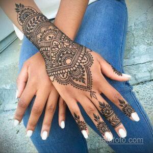 Рисунок тату хной для девушки 28.11.2020 №112 -henna tattoo for girl- tatufoto.com