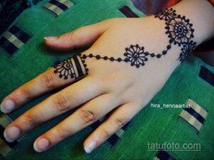 Рисунок тату хной для начинающих 28.11.2020 №002 -Henna tattoo drawing- tatufoto.com