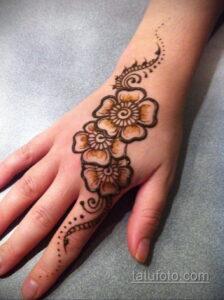 Рисунок тату хной для начинающих 28.11.2020 №015 -Henna tattoo drawing- tatufoto.com