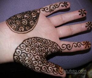 Рисунок тату хной для начинающих 28.11.2020 №022 -Henna tattoo drawing- tatufoto.com