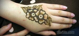 Рисунок тату хной для начинающих 28.11.2020 №023 -Henna tattoo drawing- tatufoto.com