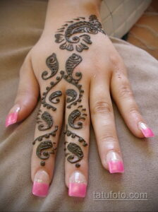 Рисунок тату хной для начинающих 28.11.2020 №029 -Henna tattoo drawing- tatufoto.com