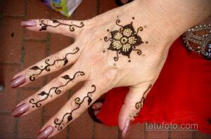 Рисунок тату хной для начинающих 28.11.2020 №030 -Henna tattoo drawing- tatufoto.com