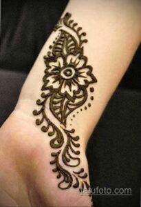 Рисунок тату хной для начинающих 28.11.2020 №031 -Henna tattoo drawing- tatufoto.com