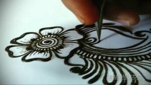 Рисунок тату хной для начинающих 28.11.2020 №057 -Henna tattoo drawing- tatufoto.com