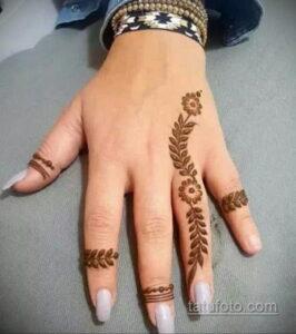 Рисунок тату хной для начинающих 28.11.2020 №061 -Henna tattoo drawing- tatufoto.com