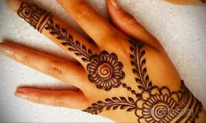 Рисунок тату хной для начинающих 28.11.2020 №064 -Henna tattoo drawing- tatufoto.com