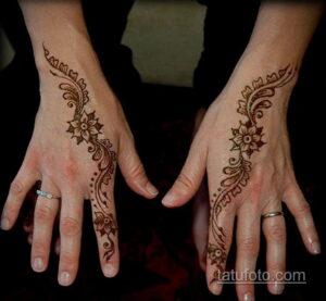 Рисунок тату хной для начинающих 28.11.2020 №071 -Henna tattoo drawing- tatufoto.com
