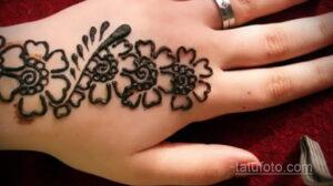 Рисунок тату хной для начинающих 28.11.2020 №077 -Henna tattoo drawing- tatufoto.com