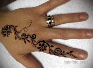 Рисунок тату хной для начинающих 28.11.2020 №093 -Henna tattoo drawing- tatufoto.com