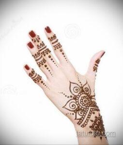 Рисунок тату хной для начинающих 28.11.2020 №096 -Henna tattoo drawing- tatufoto.com
