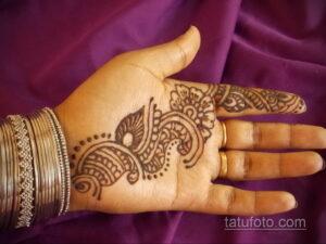 Рисунок тату хной для начинающих 28.11.2020 №097 -Henna tattoo drawing- tatufoto.com