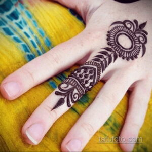 Рисунок тату хной для начинающих 28.11.2020 №112 -Henna tattoo drawing- tatufoto.com