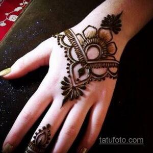 Рисунок тату хной для начинающих 28.11.2020 №114 -Henna tattoo drawing- tatufoto.com