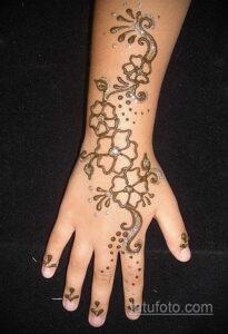 Рисунок тату хной для начинающих 28.11.2020 №118 -Henna tattoo drawing- tatufoto.com