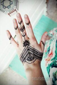 Рисунок тату хной для начинающих 28.11.2020 №122 -Henna tattoo drawing- tatufoto.com