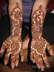 Рисунок тату хной для начинающих 28.11.2020 №126 -Henna tattoo drawing- tatufoto.com