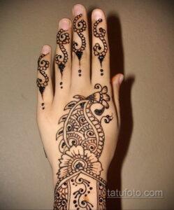 Рисунок тату хной для начинающих 28.11.2020 №134 -Henna tattoo drawing- tatufoto.com
