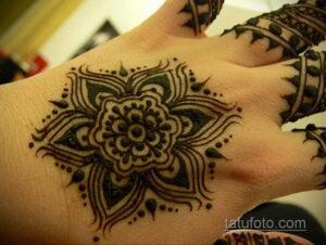 Рисунок тату хной для начинающих 28.11.2020 №135 -Henna tattoo drawing- tatufoto.com