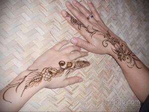 Рисунок тату хной для начинающих 28.11.2020 №136 -Henna tattoo drawing- tatufoto.com