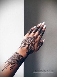 Рисунок тату хной для начинающих 28.11.2020 №167 -Henna tattoo drawing- tatufoto.com