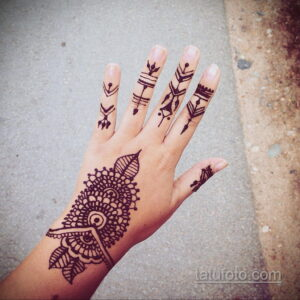 Рисунок тату хной для начинающих 28.11.2020 №172 -Henna tattoo drawing- tatufoto.com