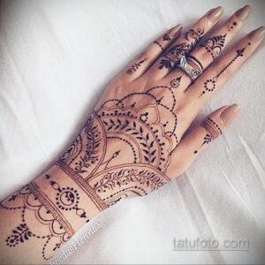 Рисунок тату хной для начинающих 28.11.2020 №177 -Henna tattoo drawing- tatufoto.com