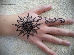 Рисунок тату хной для начинающих 28.11.2020 №188 -Henna tattoo drawing- tatufoto.com