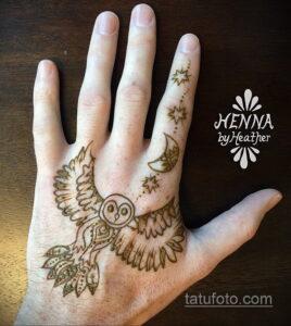 Рисунок тату хной для начинающих 28.11.2020 №198 -Henna tattoo drawing- tatufoto.com