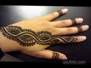 Рисунок тату хной для начинающих 28.11.2020 №204 -Henna tattoo drawing- tatufoto.com