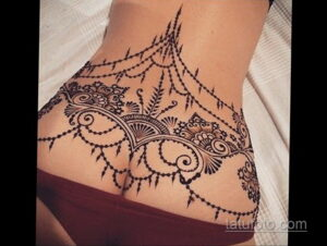 Рисунок тату хной для начинающих 28.11.2020 №207 -Henna tattoo drawing- tatufoto.com